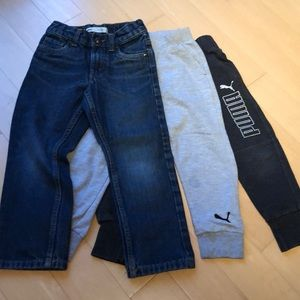 EUC 5T Boys Levi 511 Jeans and Puma Sweatpants